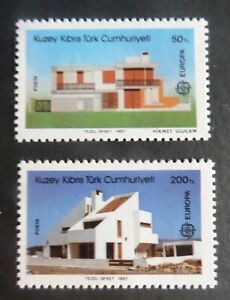 Turkish Cypriot 1987 Europa Modern Architecture SG210/1 UM MNH  unmounted mint