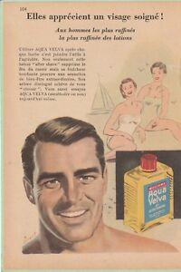 """publicité aqua velva  """"elles aprécient un visage soigné ! """" n°104"""