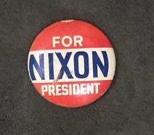 NIXON FOR PRESIDENT LAPEL PIN BADGE