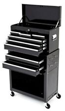 BIKETEK ROLLING TOOL CABINET WITH TOP CHEST IN BLACK