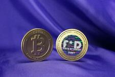 Real Bitcoin limited proof physical coin finite by Design ( Casascius Lealana )
