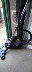 Black And Purple Canister Vacuum Cleaner