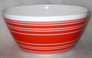 RED & WHITE STRIPE VINTAGE CHARM INSPIRED BY PYREX LARGE MIXING BOWL 10 CUP 2.3L