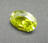 Apple Green 10x12mm 8.05Ct Zircon Oval Cut AAAAA VVS Loose Gemstone