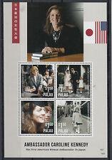 Palau 2014 MNH Ambassador Caroline Kennedy 4v M/S First American Woman Japan