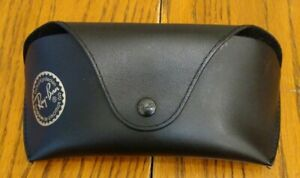 Ray Ban Leather Soft Sunglasses Eye Glasses Case Pouch Snap- black