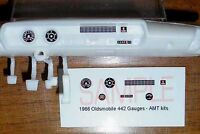 1966 OLDSMOBILE 442 GAUGE FACES for 1/25 scale AMT KITS