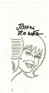 JOHN ROMITA, SR. SIGNED MARY JANE WATSON ORIG. ART-SPIDER-MAN-W/ COA! FREE SHIP!