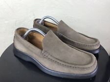 JOHNSTON MURPHY MENS E COLLECTION SUEDE LOAFER SHOE SZ 11M  ITALY  RUBBER SOLE