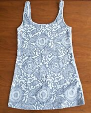 Lululemon Women Size 6 Daily Tank Top Heathered Fossil/White Beachy Floral Gray
