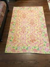 Anthropologie wool crewel embroidered rug 4X6 beautiful colors Free Ship