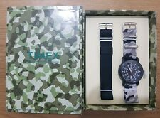 Timex Indiglo Originals Camper Kit T2N364GBKCA Two Strap Gift Set Watch