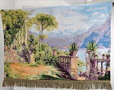 Tapestry Wall Hanging Lodge at Lake Como Fine Art Decor Woven Aagaard Finished