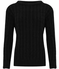 Black Cable Knit Knitted Jumper S/M – NEW with TAGS