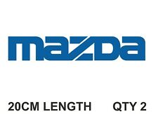 MAZDA STICKERS DECALS 20CM (PAIR) ANY COLOUR