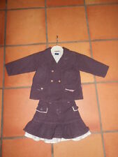 ensemble   veste   jupe sergent major  fille  2 ans