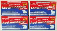 Major Acetaminophen PM Extra Strength 50ct -4 Pack (200 Tablets) -Exp 02-2023
