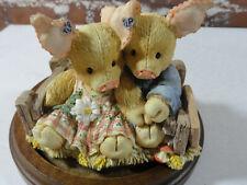 Vintage Tlp this little piggy *Home Sueet Home* enesco 1994edition~decor~Cute