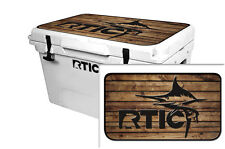 Skin Decal Wrap 24mil for RTIC  65qt Cooler Lid sticker RTIC Marlin Wood