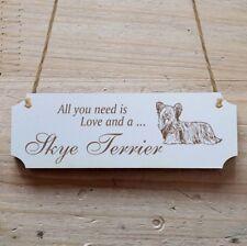 Türschild Dekoschild « Skye Terrier » Hund