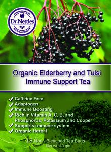 Elderberry and Tulsi Immune Tea Organic Dr Nettles Brand