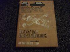 HILLMAN IMP Workshop Manual 1969-72, Autobook, Singer Chamois, Sunbeam Sport etc