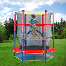 Kids Trampoline Indoor Outdoor Junior With Enclosure and Safety Net 4.5ft