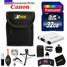 32GB ACCESSORIES Kit for Canon PowerShot ELPH 180 IS w/ 32GB Memory + Battery +