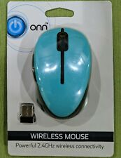 Wireless Mouse 2.4GHz (Black or Teal) cordless incl. batteries (Ships out fast)