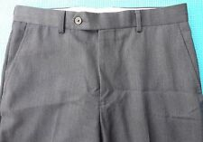 BROOKS BROTHERS 1818 Regent Mens Gray Flat Front Dress Pants Sz 31x26 100% Wool