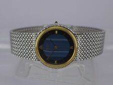 Japan Seiko Credor pattern dial 18K Gold/SS tu-tone bracelet men dressing watch