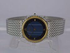 Japan Seiko Credor pattern dial 18K Gold/SS tu-tone bracelet men dressing watch