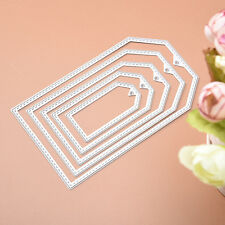 5Pc Metal Rectangle Cutting Dies Stencils Set DIY Scrapbooking Album Paper Craft