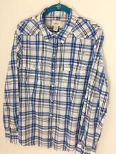 Levi's Large Women's Blue & White Western Pearl Snap Shirt Top