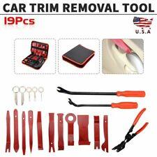 19Pcs Car Trim Removal Tool Set Hand Tools Pry Bar Panel Door Interior Clip Kit