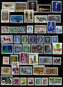 Canada Postage Stamps QE II Fine Used Selection Clean Stamps (48v)