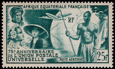 ✔️  FRENCH EQUATORIAL AFRICA 1949 - UPU AIRMAIL - SC. C34 ** MNH [C028]