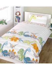 Dinosaur Bettbezug Doppel Bettwäsche Set – Natürlich Streifen