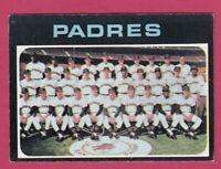 1971 Topps Baseball  # 482 San Diego Padres Team Card