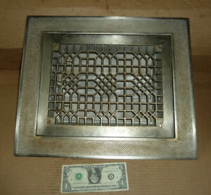 "Vintage Heat Register,Grate,Grill,Cast Iron,#9,12B,Tuttle & Bailey,1885,18"" x 15"