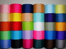"LOT 30 YARDS GROSGRAIN RIBBON SOLID COLORS 1.5 ""1 1/2"" INCH REF 04"