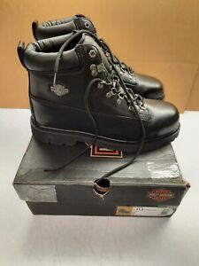 HARLEY-DAVIDSON FOOTWEAR Men's Steel Toe Drive Size 11.5M Leather Boots D91144