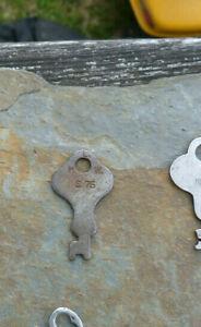Antique Vintage Trunk Key  H L W S.75 Flat Steel  Trunk Key #  S.75