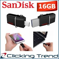 Micro USB Drive 16GB SanDisk OTG Ultra Dual USB3.0 Android Flash Memory Stick