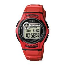 Casio multisport watch cool RED 5 alarms SUPER LED snooze doble hour CRONOGRAPH