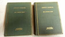 """1909 Edition """" AMIEL'S JOURNAL """" Vol. I & 2, Translated by Mrs. Humphry Ward"""