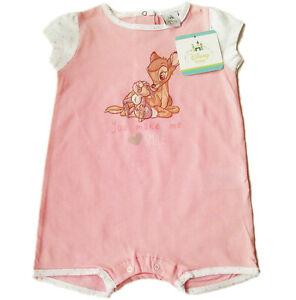 Spieler Bambi Gr.80 Disney NEU 100% Baumwolle kurz einteiler rosa baby