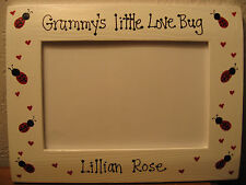 Grammy's little love bug - personalized Grandma Nana Mommy picture photo frame