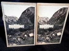 Coloured Stereoscopic No 13 Left & Right Cards In Tranquil Waters