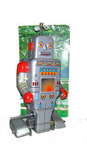 ROBOT CHENILLE à clef jouet en tole mécanique old toys tin toys jouet ancien